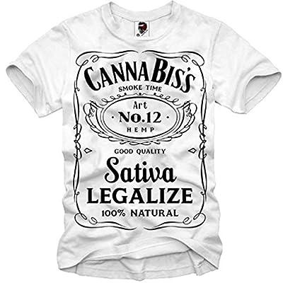 E1syndicate T-shirt Cannabis Weed Ganja Sativa Indica Bong Hanf Hemp Samen S-xl