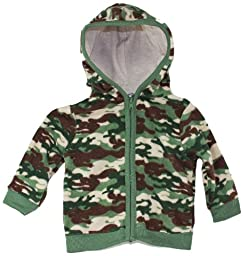 Boutique Baby Camo Velour Hooded Sweater, Sizes: Newborn to 12mths (6-9 mths)