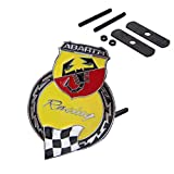 B067 Yellow Car Chromed Grille Emblem Badge Decal ABARTH Racing Italy For FIAT 124 125 125 500 695 OT2000 Coupe