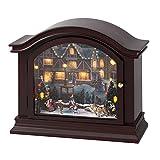 Mr. Christmas Illuminated Mantel Music Box, Skaters