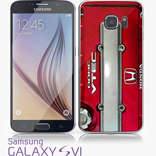 JDM Honda DOHC Vtech Valve Cover Red for Iphone and Samsung Galaxy (Samsung Galaxy S6 white) (Honda Vtech Emblem compare prices)