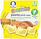 Gerber Graduates Pasta Pick-Ups Ravioli, Chicken and Carrot, 8 Count