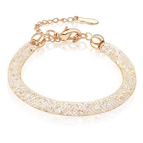 Mytys 18k Rose Gold Mesh Chain Stardust Charm