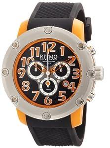 Ritmo Mundo Men's 241 Orange Carnival Quartz Chrono Black Dial Watch