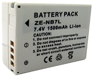 Zeikos ZE-NB7L Rechargeable Lithium Battery for Canon NB7L