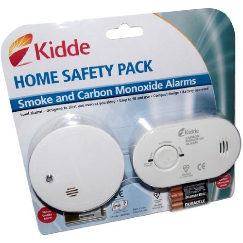 kidde co1sa6 co and smoke alarm twin pack by kidde at the carbon monoxide alarms. Black Bedroom Furniture Sets. Home Design Ideas