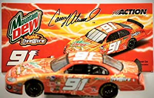 Action - NASCAR - Casey Atwood #91 - 2003 Dodge Intrepid - Mountain Dew / Live Wire Paint - 1:24 Scale - Die Cast Stock Car - Rare - 2,604 Produced - Limited Edition - Collectible