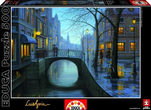 Educa-Rainy-Evening-Eugene-Lushpin-Puzzle-Jigsaw-500