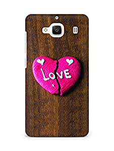 Amez designer printed 3d premium high quality back case cover for Xiaomi Redmi 2 (Broken Heart Cookies)