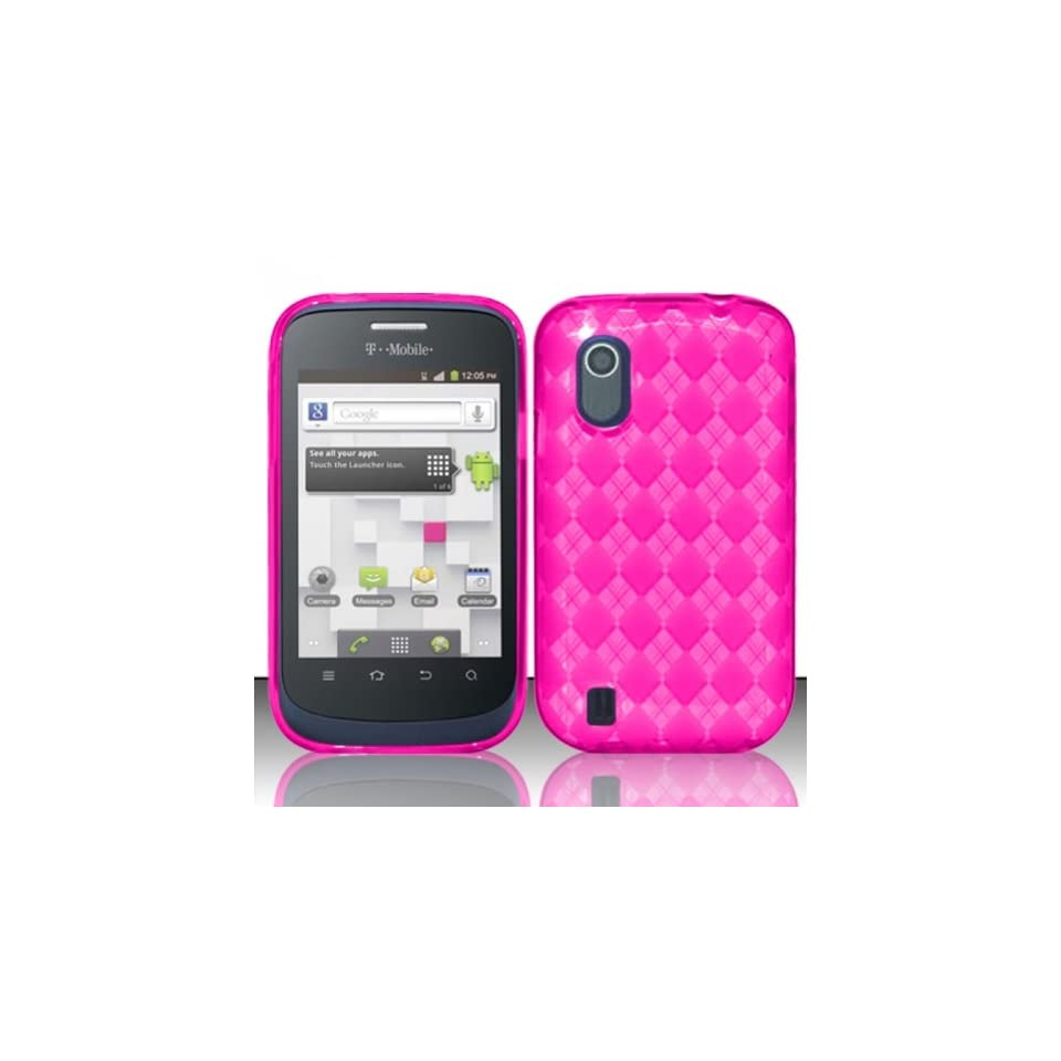 Pink Flex Cover Case for ZTE Concord V768 T Mobile GoSmart Cell Phones & Accessories