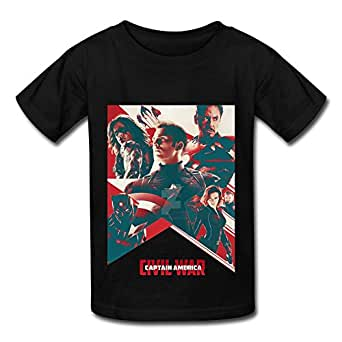 Amazon.com: XL Sci Fi Film Captain America Civil War Poster T Shirt