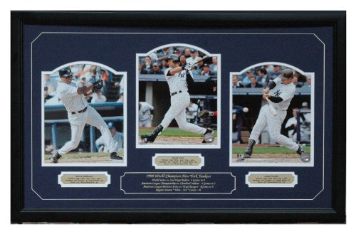 1998 New York Yankees World Champions Triple 8X10 - Derek Jeter Bernie Williams & Jorge Posada front-314515