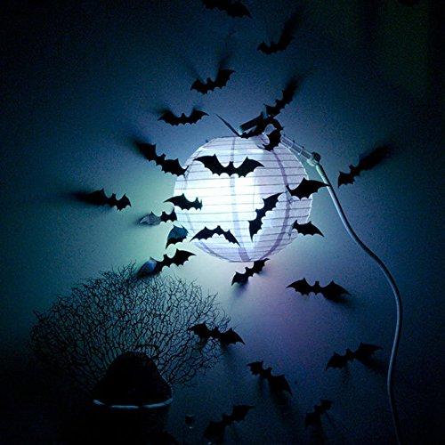 [12Pcs Black DIY Bat Wall Sticker Decal Halloween Party Decoration QIN] (Diy Costumes With Black Corset)
