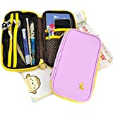 Cool Pencil Case - Giraffe Charm Wallet and Pencil Pouch Duo (Lavender)