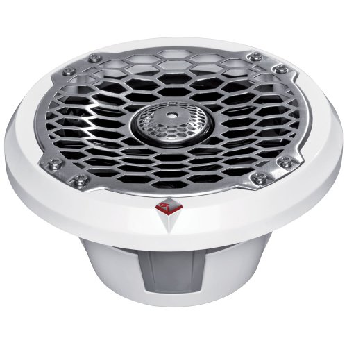 Rockford Fosgate 6.5Inch Full-Range Coax/Component Speaker - 75W Rms/150W Max - (Pair) Stainless/White