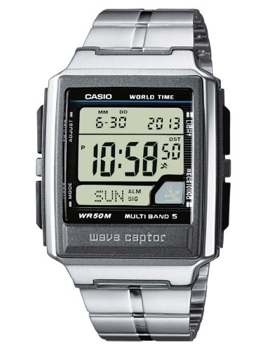 Casio WaveCeptor WV-59DE-1AVEF Men's Digital Quartz Multifunction Watch with Steel Bracelet, Radio Controlled