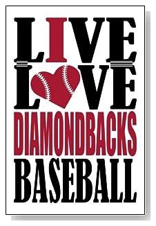 Live Love I Heart Diamondbacks Baseball lined journal - any occasion gift idea for Arizona Diamondbacks fans from WriteDrawDesign.com