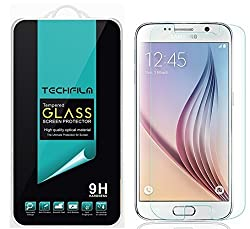 TechFilm - Samsung Galaxy S6 [Tempered Glass] Screen Protector, Premium Ballistic Glass Round Edge [0.3mm] Ultra-Clear Anti-Scratch, Anti-Fingerprint, Bubble Free, Maximum Screen Protection from Bumps, Drops, Scrapes, and Ma