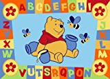 Luxury Children's Character Winnie The Pooh ABC Blue Disney Rug/Mat