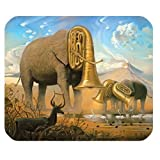 Elephant with Tuba Head - Get Your Own Style Of Cloth Mouse Pad