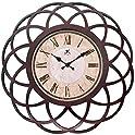 "Infinity 18"" Dark Walnut Wall Clock"