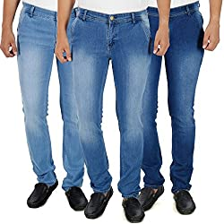 Stylox Pack Of 3 Mens Shaded Slim Fit Jeans