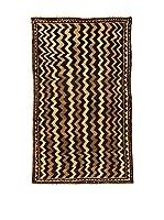 Kilim Carpets by Jalal Alfombra Gashgai (Negro/Marrón/Beige)