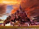 世界遺産 モンサンミシェル 修道院 ポスター Mont Saint Michel フランス