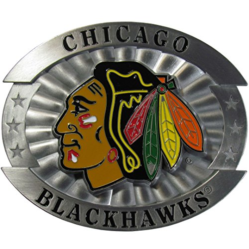 NHL Chicago Blackhawks Oversized Belt Buckle, (Nhl Belt Buckle compare prices)
