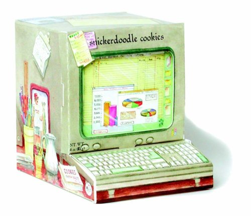Too Good Gourmet Storybook Collection Cinnamon-Sugar Snickerdoodle Cookies, 4-Ounce Computer Shaped Gift Boxes (Pack of 4)