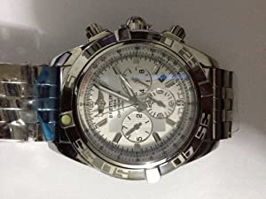 Men's Breitling Style Metal Band Watches