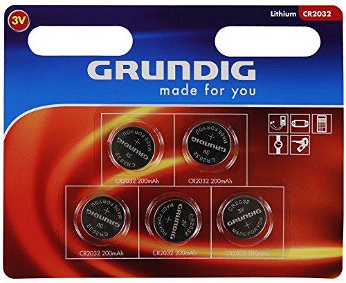 GRUNDIG cR2032 pile bouton au lithium 3 v/5 w, emballage blister