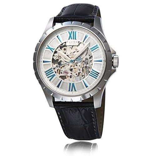 (フルボデザイン)Furbo Design 腕時計 スケルトン ステンレススチール スケルトン シルバーダイアル メンズサイズ [並行輸入品]