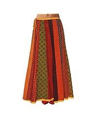 Sttoffa Womens Cotton Skirts -Multi-Colour -Free Size - B00MJO7ZEO