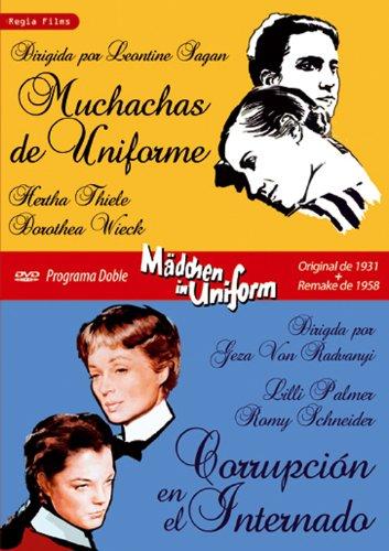 Programa Doble - Mädchen In Uniform Original De 1931 + Remake De 1958 (Muchachas De Uniforme + Corrupción En El Internado) [DVD]