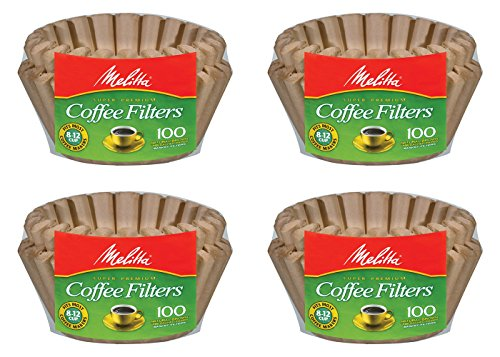 Melitta 8-12 Cup Basket Filter Paper (Natural Brown, 400 Count) (Unbleached Basket Coffee Filters compare prices)