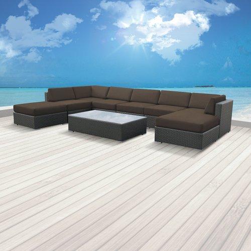Luxxella Outdoor Patio Wicker MALLINA Sofa Sectional