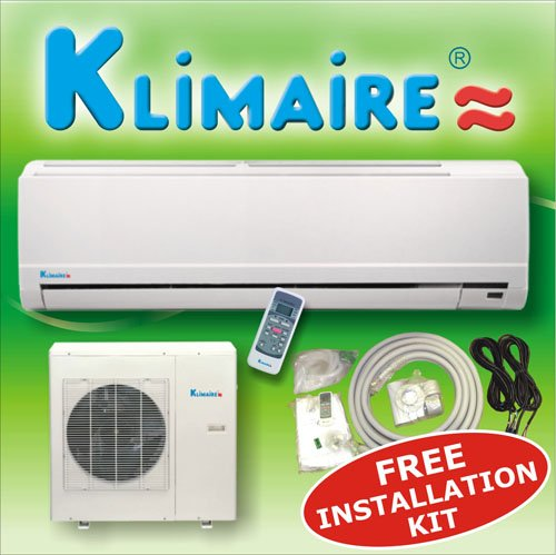 Klimaire 24000 btuh 13 SEER mini split ductless a/c air conditioner & heat pump 220V / 60Hz with free installation kit