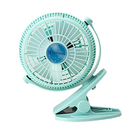 Read About Dopromal 5 Inch Clip-on Fan USB 360 Degree 2 Speed Tilt Adjustable Electric Personal Air-...