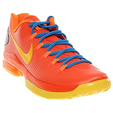 Nike Men's KD V Elite, KD V ELITE-TM ORANGE/TR YELLOW-TTL ORANGE-PHT B, 8.5 M US