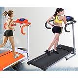 Searchbuystore 500W Folding Electric Treadmill Portable Motorized Running Machine Black