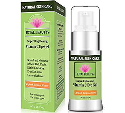 Best Eye Cream for Dark Circles Under Eyes,Puffy Eyes,Bags Under Eyes,Wrinkles - Best Vitamin C Anti Aging Eye Gel for Men & Women for Every Eye Concern - by Joyal Beauty- Best Organic Skin Care