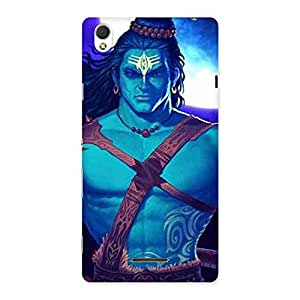 Premium Warior Shiva Blue Back Case Cover for Sony Xperia T3