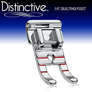 Distinctive 1-4 Quarter Inch Quilting Sewing Machine Presser Foot - Fits All Low Shank Snap-on Singer Brother Babylock Husqvarna Viking Husky Series Euro-pro White Juki Bernina Bernette Series Home Simplicity And Elna And More by Distinctive