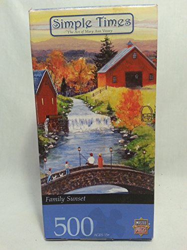 Simple Times Family Sunset 500 Piece Puzzle