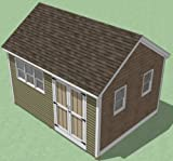 12x16 Shed Plans - How To Build Guide - Step By Step - Garden / Utility / Storage