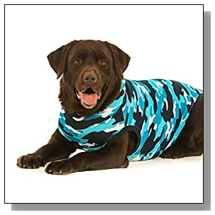Suitical Recovery Suit XX-Large for Dogs in Blue Camo