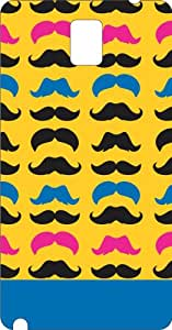 Colorful Moustache note 3 Phone cover