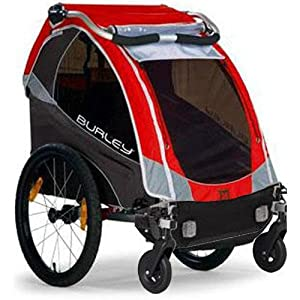 Burley 939205RKIT1 Solo Red Trailer with 2-Wheel Stroller Kit