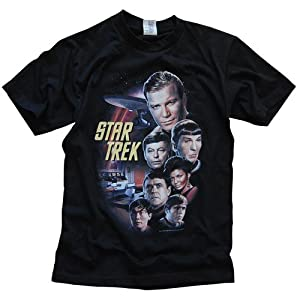 Star Trek black t-shirt ,star trak t shirt